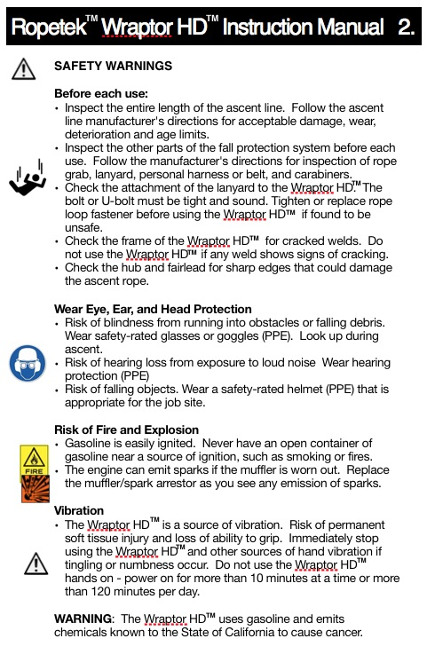 page 2 HD instructions